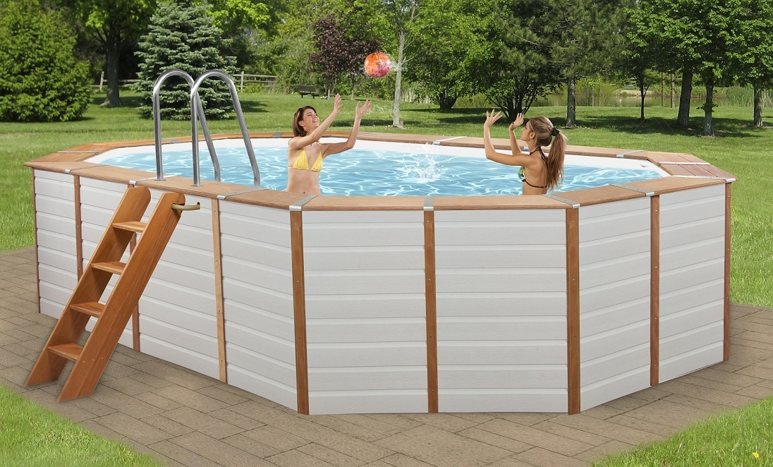 Piscine habillage pvc for Piscine acier rectangulaire