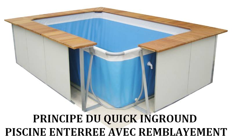 Quick inground for Piscine hors sol semi enterree pas cher
